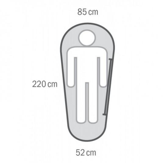 MONTI -11С 220х85 спальный мешок, -11С, левый