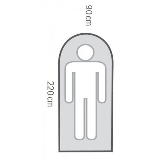 GIZMO -5С 220х90 спальный мешок, -5С, правый