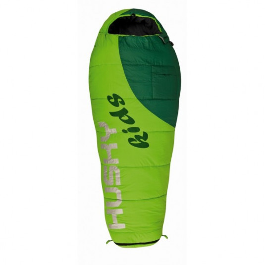 Спальный мешок Husky Kids MAGIC -12С 180х75, зелёный, правый
