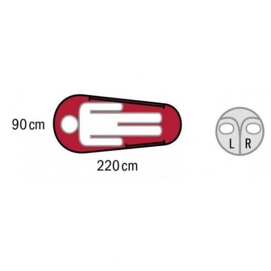 APOLLO LADIES -20С 220х85 спальный мешок, -20С, левый