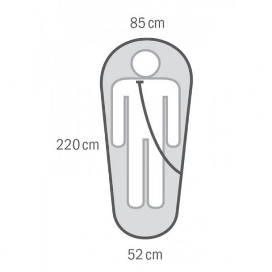 PRIME -27С 215х85 спальный мешок, -27С, левый
