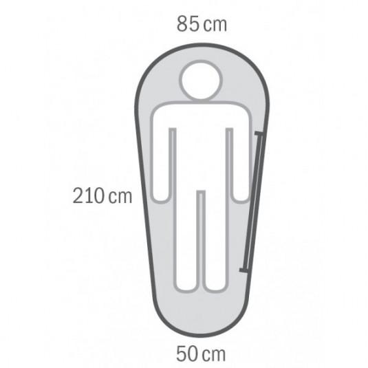MINI 0С 210х85 спальный мешок, -0С, правый