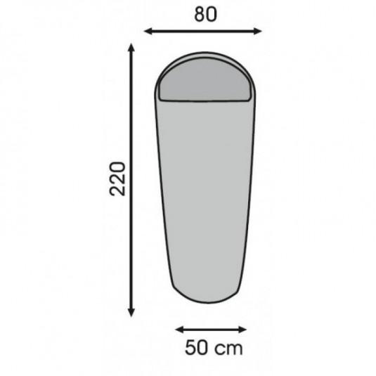 SHEET LINER MUMMY вкладыш в спальный мешок-кокон, 80х220х50