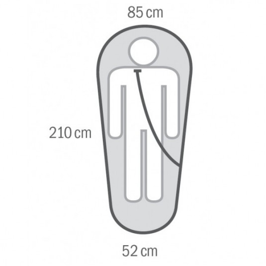 EMOTION -22С 210х85 спальный мешок, -22С, левый