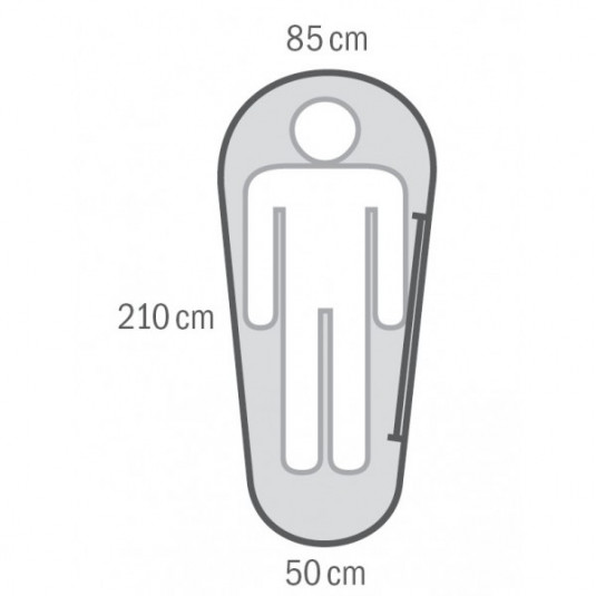 MIKRO +2С 210х85 спальный мешок, +2С, правый