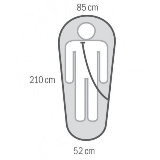 ENEMY -12С 210х85 спальный мешок, -12С, InsuFil, левый
