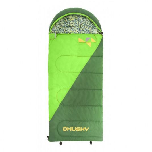 Cпальный мешок Husky Kids MILEN -5С 160х60, зелёный, левый