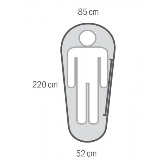 MANTILLA -5C 220х85 спальный мешок, -5С, левый