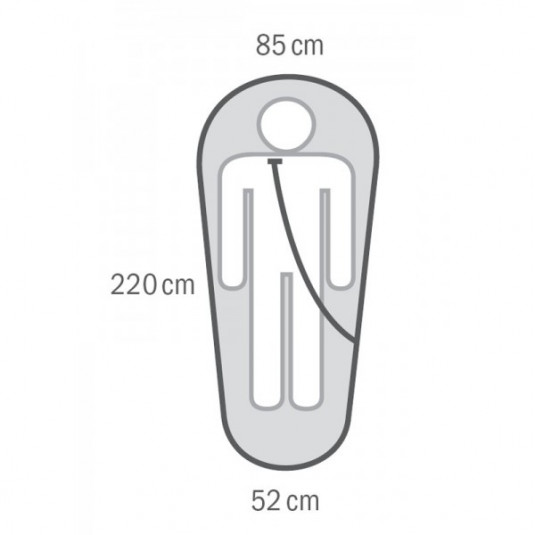 Спальный мешок Husky ENJOY -26С 220х85, -26С, левый