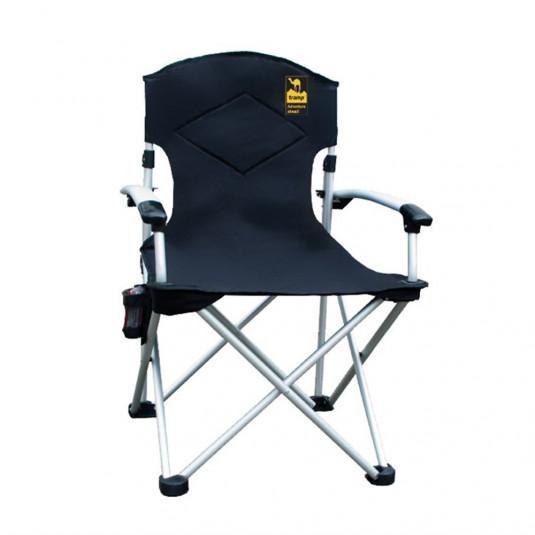 Tramp кресло раскладное с жесткими подлокотниками 67/60*55*48/97 см, черный/серый