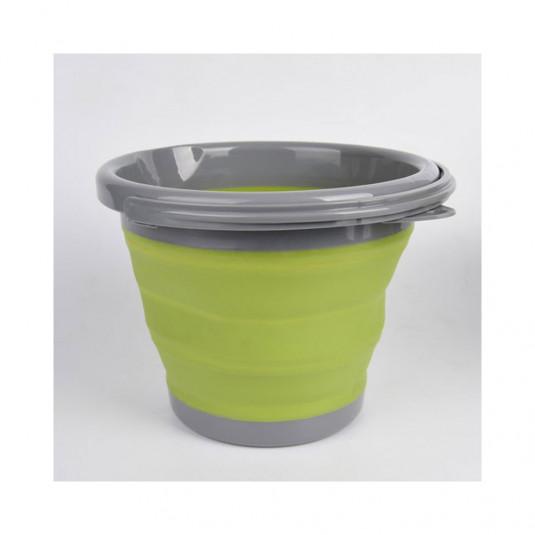 Tramp ведро складное силиконовое 5л оливковый, 5л