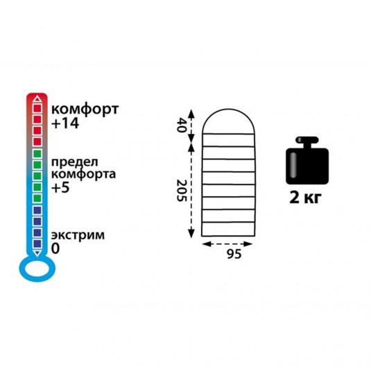 Спальный машок Tramp Baikal 200 XL