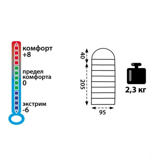 Спальный машок Tramp Baikal 300 XL