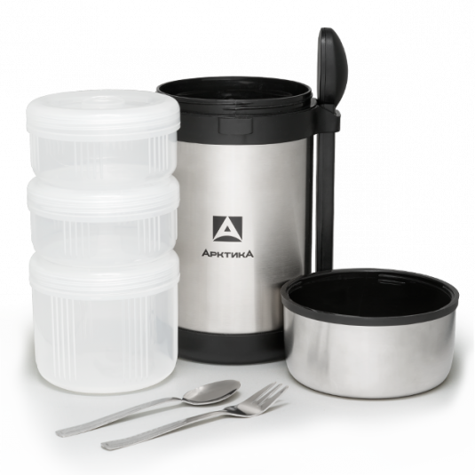 Термос с контейнерами для еды Арктика 403-1500 1,2 л