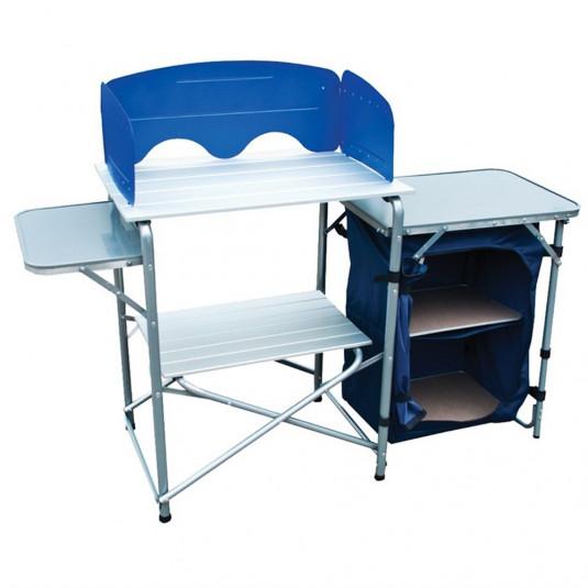 Tramp складная походная кухня TRF-021 139*46*80 см, серый/синий