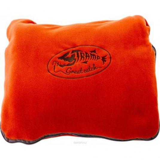 Tramp плед-подушка в чехле терракотовый
