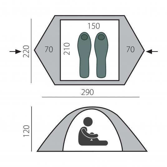 Тент палатка Cloud 2 BTrace