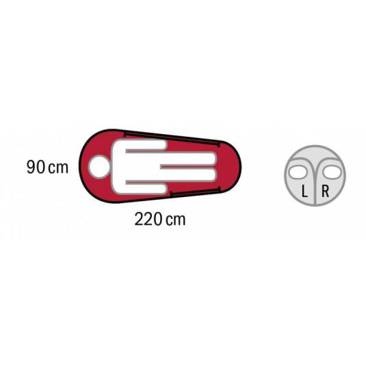 AURUS -18С 220х85 спальный мешок, -18С, левый